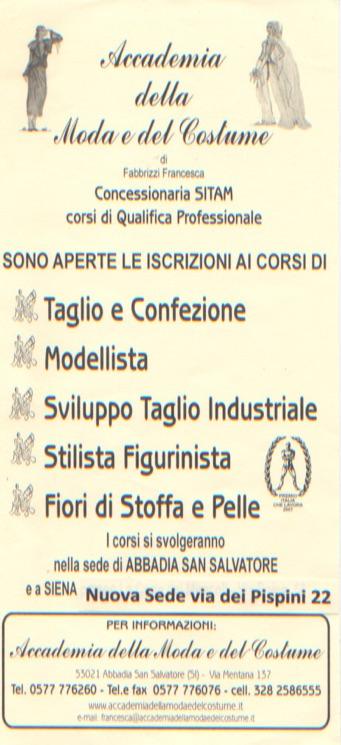 Accademia della moda e del costume for Accademia moda napoli